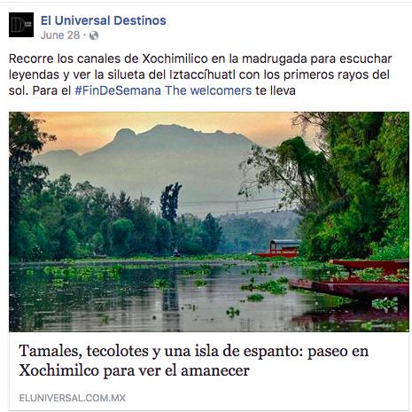 Xochimilco al amanecer