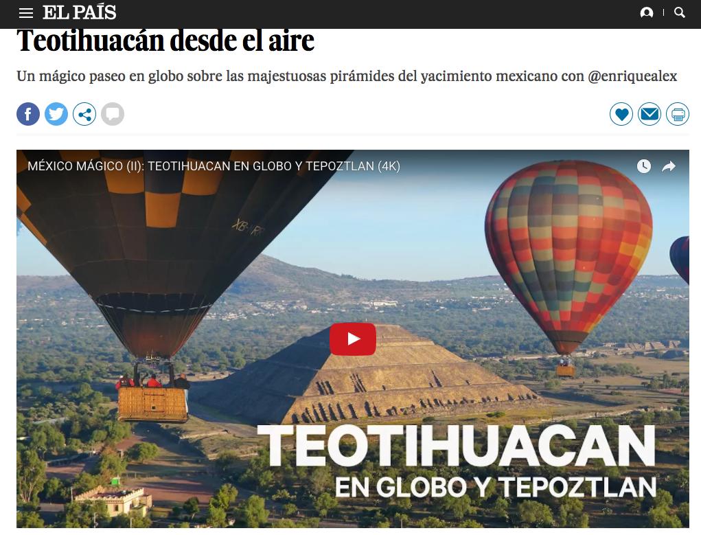 Teotihuacan en globo   el pai s